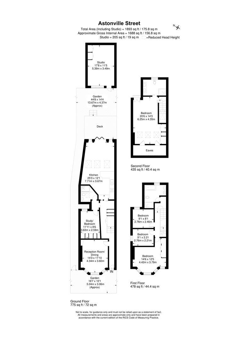 Floorplan for Astonville Street, Southfields